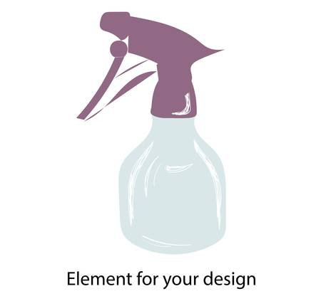 spray. PULVERIZER SPRAY. Vector illustration isolated on a white background.