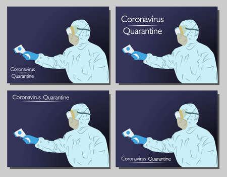 Coronavirus in the world. New Coronavirus 2019-nKoV , a man in a white medical mask and protective suit. The concept of coronavirus quarantine.