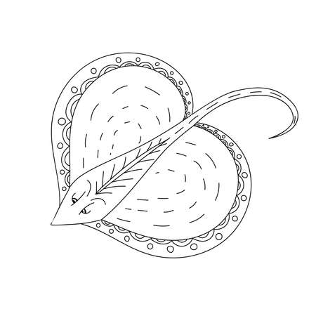 Staining. Coloring book. Coloring book with a picture of a mantle stingray in zentangle style. Antistress freehand sketch drawing. Vector illustration