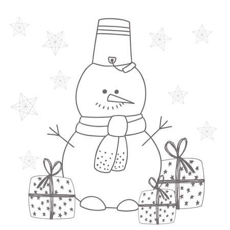 Snowman illustration Ilustrace