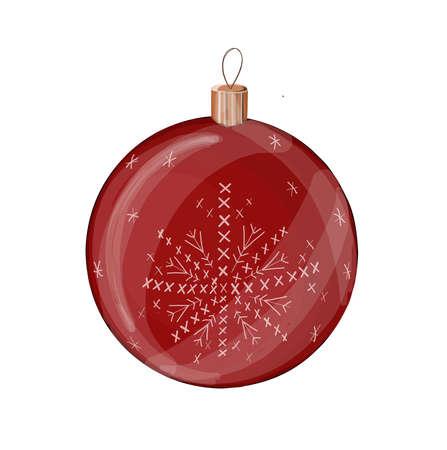 Christmas ball. Christmas toy. Decoration for the Christmas tree. red christmas ball.