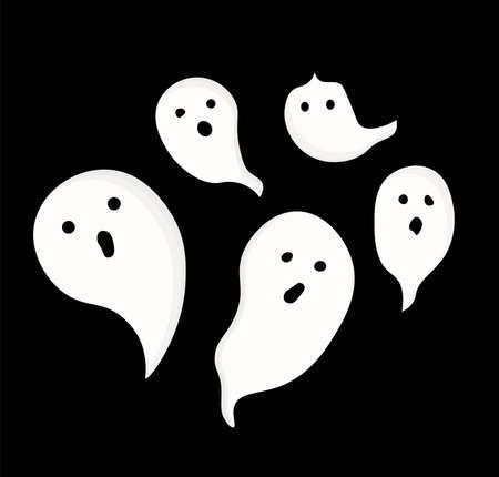 Halloween Ghost, Recipes FOR HALLOWEEN. DESSERTS. Isolated element Vector illustration Vector Illustratie
