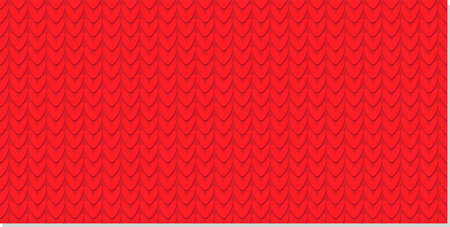 Knitted pattern. Knitting with needles. Seamless red winter pattern Stock Illustratie