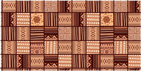 ETHNIC TREND PATTERN. PAINTWORK IN AFRICAN STYLE. PATTERN SEAMLESS AFRICAN. TRADITIONAL PATTERN. PRIMITIVE MINIMAL HAND DRAWINGS.