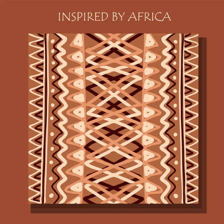 African background, flyer with tribal traditional pattern