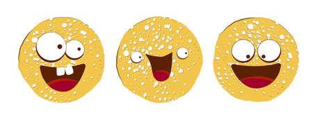 pancake character. Vector illustration isolated on white background. Round flapjack. Pancake week. fritter. Векторная Иллюстрация