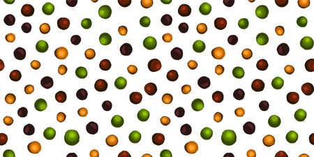 Kitchen textile design. Multi-colored peppercorns. A mixture of peppers. Seamless pattern. Allspice peas. Italian pizza.