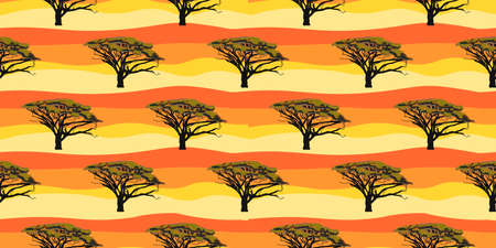 ETHNIC TREND. PAINTING IN AFRICAN STYLE. SEAMLESS AFRICAN PATTERN.