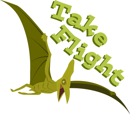 Stay away from dangerous flying pterodactyl. Pick those design by Ann The gran Фото со стока - 44682476