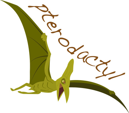 Stay away from dangerous flying pterodactyl. Pick those design by Ann The gran Иллюстрация