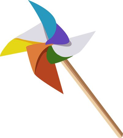 Colorful Pinwheel to decorate your home . Pick those design by Ann The Gran Illustration