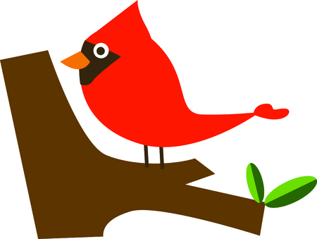 roost: Bring these bright red cardinals home to roost for the holidays.  Add a touch of color to your indoor wintry decorations with this design on your Christmas projects!