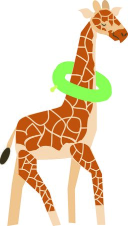 is magnificent: This magnificent giraffe is ready to swim onto towels, beach totes, t-shirts, quilts and more!