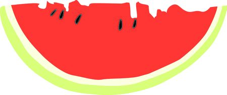 When one has tasted watermelon he knows what the angels eat. Stock Illustratie
