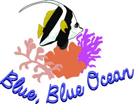 美しい熱帯魚素晴らしい夏テーマのプロジェクトになります。  イラスト・ベクター素材