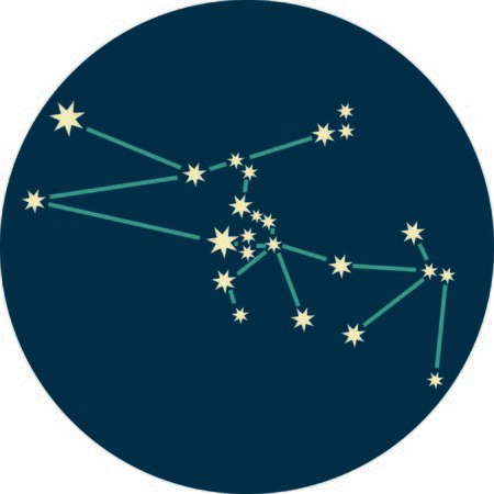 Add some personality to your next project with these zodiac constellation designs. Çizim