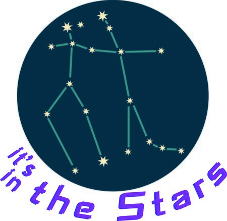 Add some personality to your next project with these zodiac constellation designs. Ilustracja