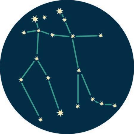 Aggiungete un po 'di personalità al vostro prossimo progetto con questi disegni delle costellazioni zodiacali. Archivio Fotografico - 44731530