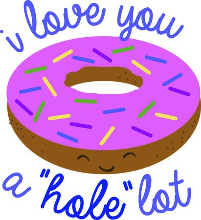 doughnut: Put a doughnut on a kitchen project. Illustration