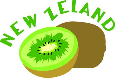 キウイ フルーツは、最も栄養豊富な今日の世界で消費されるトップクラスの 26 果物  イラスト・ベクター素材