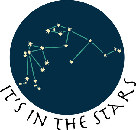 aquarius star: Add some personality to your next project with these zodiac constellation designs. Illustration