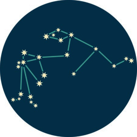 water bearer: Add some personality to your next project with these zodiac constellation designs. Illustration