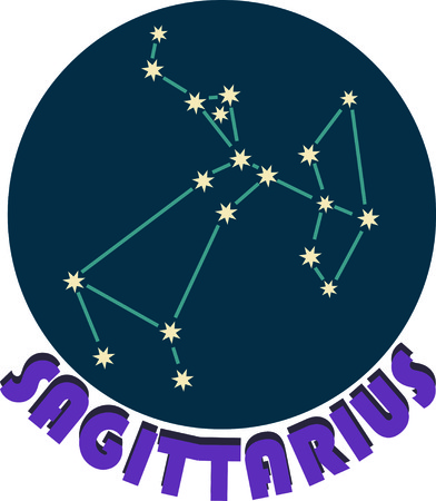 Add some personality to your next project with these zodiac constellation designs. Иллюстрация