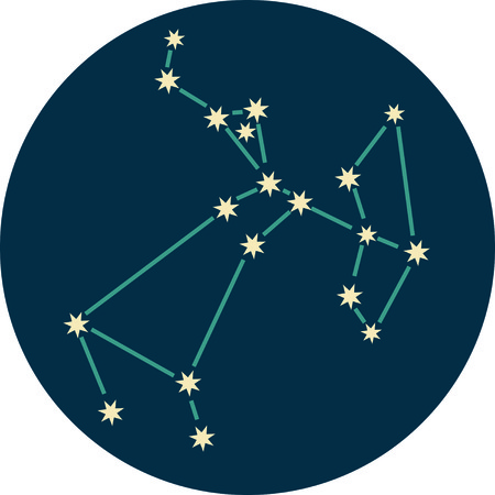 constellation sagittarius: Add some personality to your next project with these zodiac constellation designs. Illustration