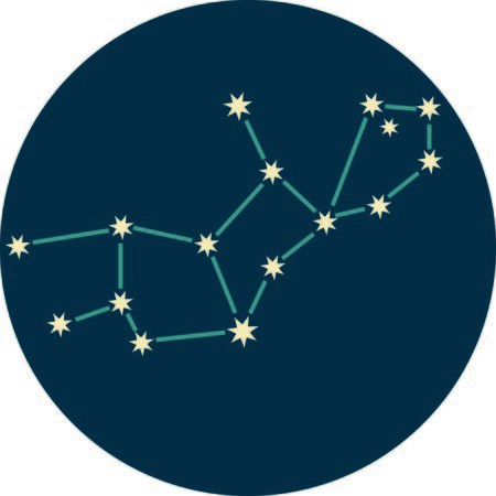 virgo the virgin: Add some personality to your next project with these zodiac constellation designs. Illustration