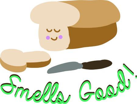 Vermakelijk voedingsmiddelen kunnen een groot accent naar de keuken project van een kind te zijn. Stock Illustratie