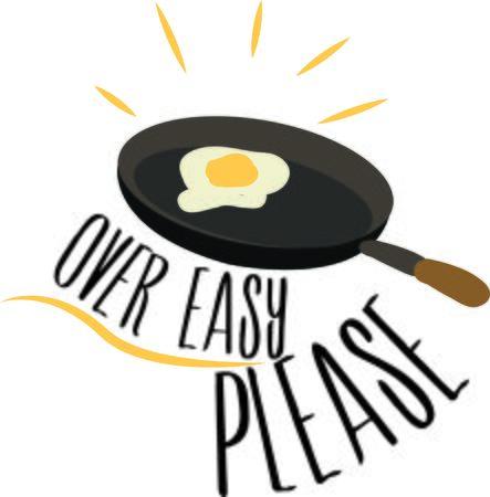 プロジェクトを台所で調理卵を入れます。  イラスト・ベクター素材