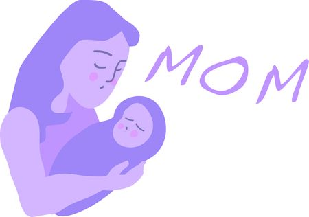 maternal: This mother and child is a great design for sharing maternal love.