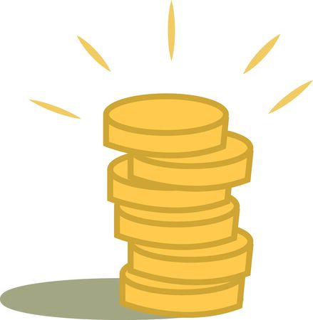 Use these gold coins for your money project.
