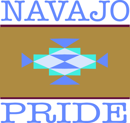 heritage: Celebrate your Navajo heritage with these native design. Illustration