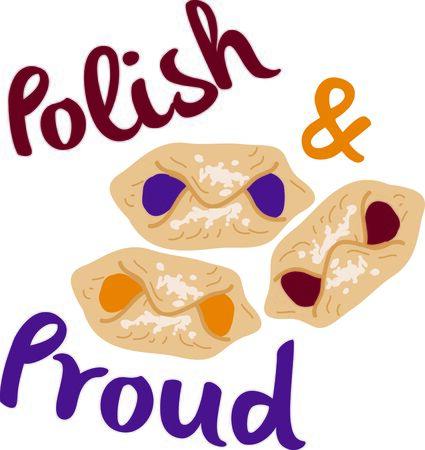 european culture: Your favorite Polish friend will enjoy this kolaczki design.