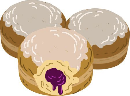 Your favorite Polish friend will enjoy this paczki design. Illustration