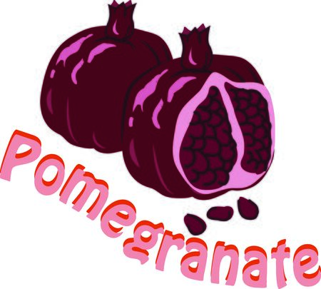 Use this pomegranate for your fruity project.