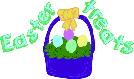 Celebrate Easter with this egg basket.