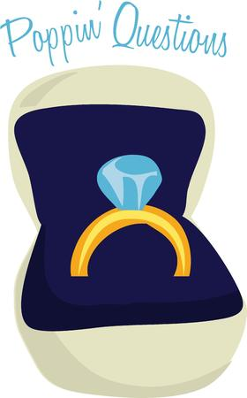 jewelry boxes: Show off our engagement ring with this shiny jewel. Illustration