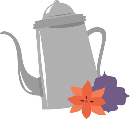 flowered: Make tea time special with a pretty flowered tea pot.