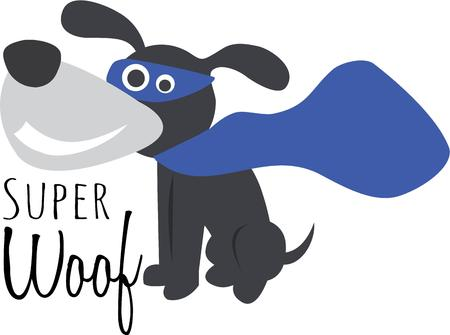 super dog: Dog lovers will enjoy this cute super puppy.