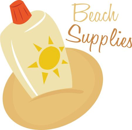 Take sunscreen to the beach for a day in the sun.