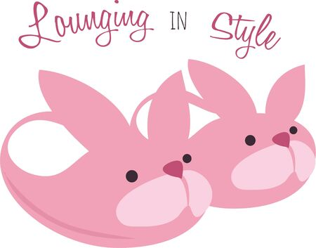 pajama: Bunny slippers will make a great accent on pajamas.