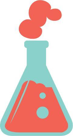 Maak een grote laboratoriumjas voor een wetenschap vent. Stock Illustratie
