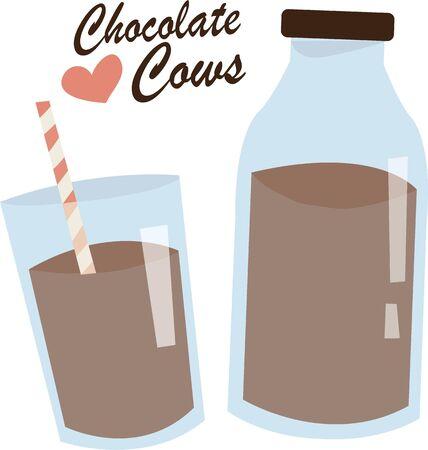 Chocolademelk is een heerlijk drankje.