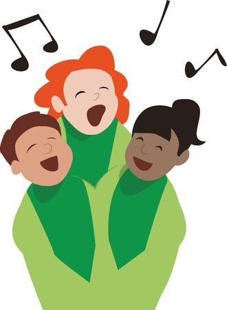 coro: Haz tu camisetas para sus miembros del coro. Vectores
