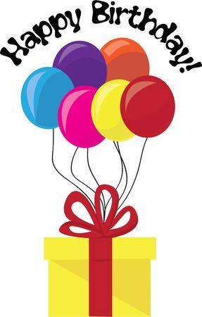 Decorare una festa di compleanno con doni e palloncini. Archivio Fotografico - 44834539