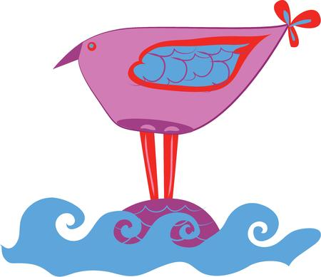 A cute bird will look nice on your projects. Ilustração