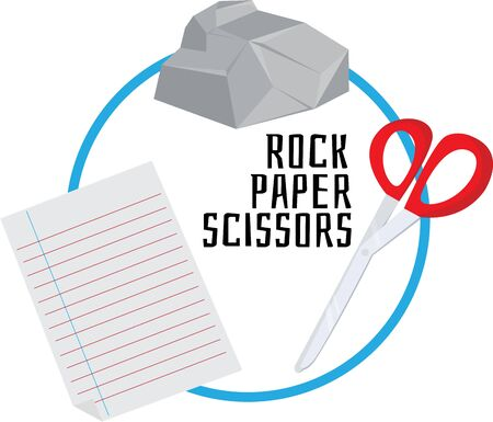 Play time can be fun with a game of rock paper scissors.