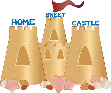 castle sand: Take this sand castle to the beach for a day of fun in the sun.